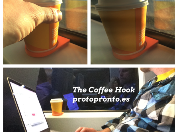 The CoffeeHook in Orange Strong & Flexible Polished