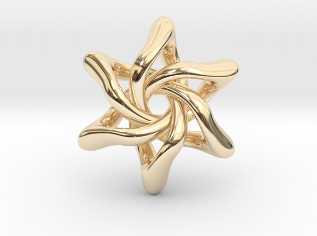 Exia Pendant - 45mm in 14k Gold Plated Brass