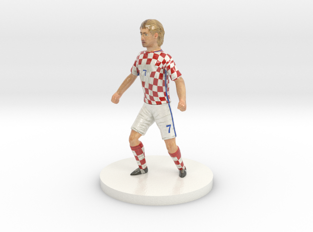 Croatian Football Player in Glossy Full Color Sandstone