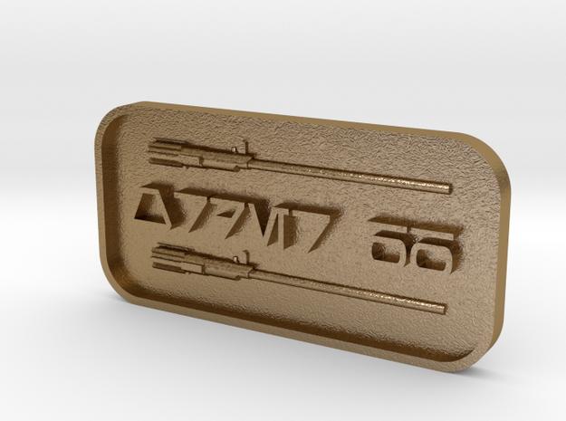 Order 66 in Polished Gold Steel