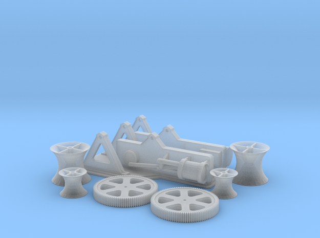 Titanic Steam Winch Scale 1:144 in Smoothest Fine Detail Plastic