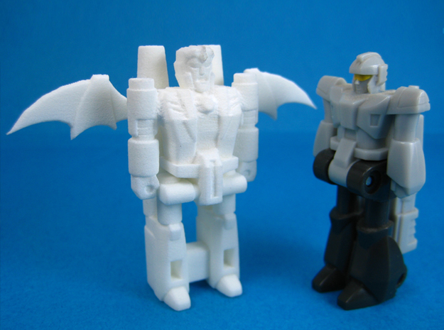 Dracula TargetMonster (5mm Transforming Weapon) in White Strong & Flexible