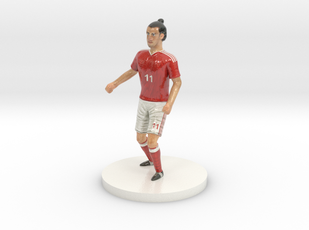 Welsh Football Player in Glossy Full Color Sandstone
