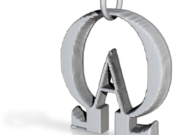AlphOmega in Polished Silver