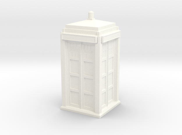 The Physician's Blue Box in 1/32 scale (complete) in White Processed Versatile Plastic