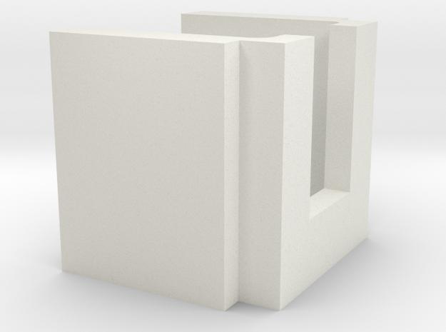 Guage Block in White Natural Versatile Plastic