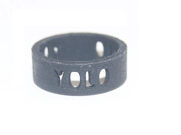 YOLO TYPE 2, Size 5 Ring Size 5 3d printed Yolo Type 2, Black
