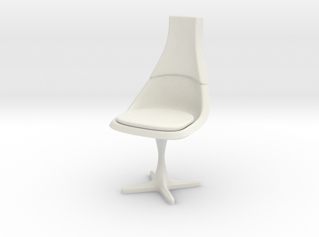 TOS Chair 115 1:24 Scale in White Natural Versatile Plastic