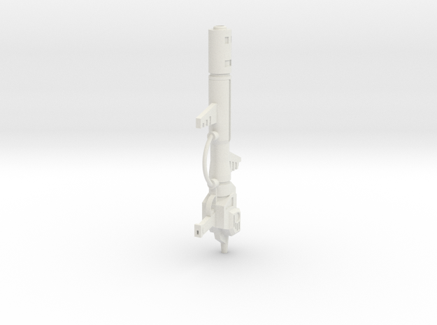 """Electron Cannon"" 1:6th scale weapon in White Natural Versatile Plastic"