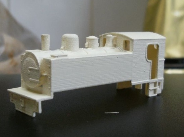 Locomotive Corpet-Louvet 0-4-0T Nm 1:160 3d printed model + primer