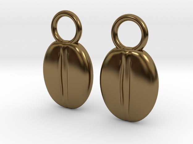 Coffeebean Pair in Polished Bronze