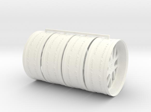30in Tilda Stag Offset in White Processed Versatile Plastic