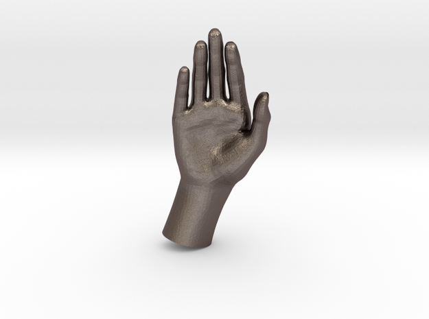 1/10 Hand 024 in Polished Bronzed Silver Steel