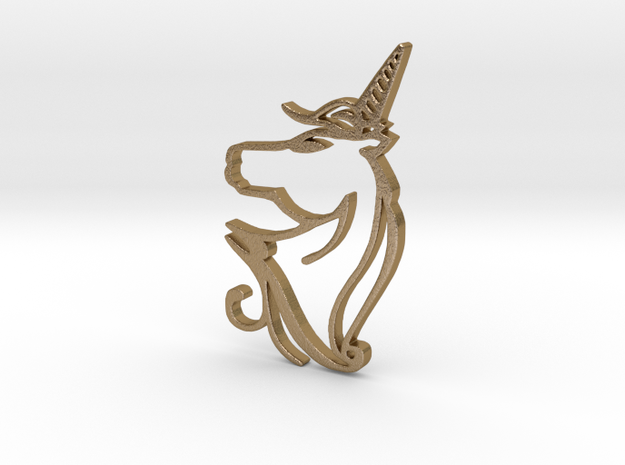 Unicorn in Polished Gold Steel