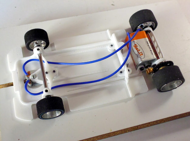 Slot car chassis for C9 1/28