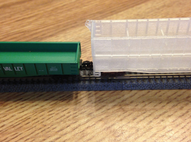 Two 50ft Gondola With Insert  Z Scale in Smooth Fine Detail Plastic