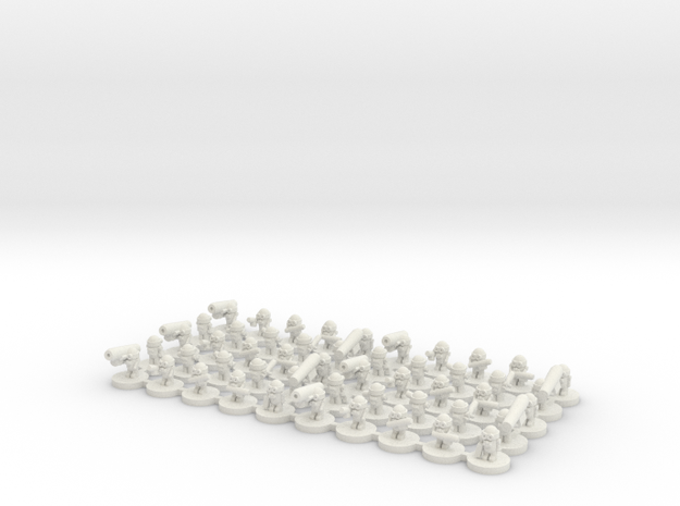 50 Alien Grunt Soldiers in White Natural Versatile Plastic