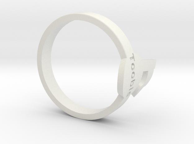 Toobis TagPro Ring in White Natural Versatile Plastic