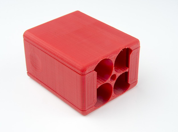 Square Speedlight Speed Loader in Red Processed Versatile Plastic