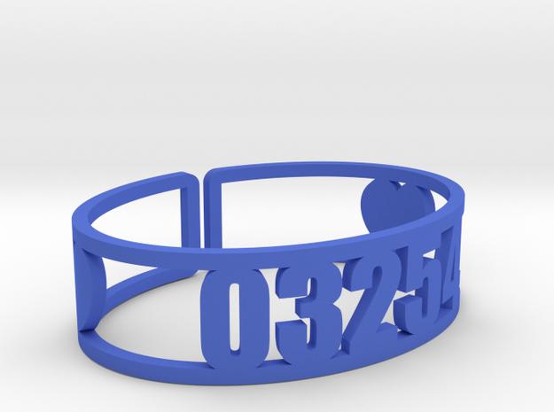 Robindel Zip Cuff in Blue Processed Versatile Plastic