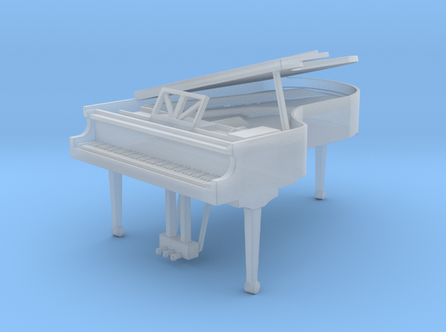 Miniature 1:48 Grand Piano in Smooth Fine Detail Plastic