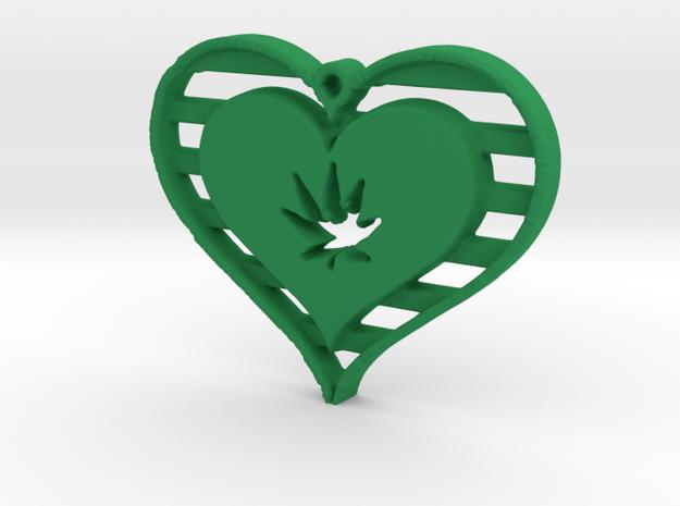 Creator Pendant in Green Processed Versatile Plastic