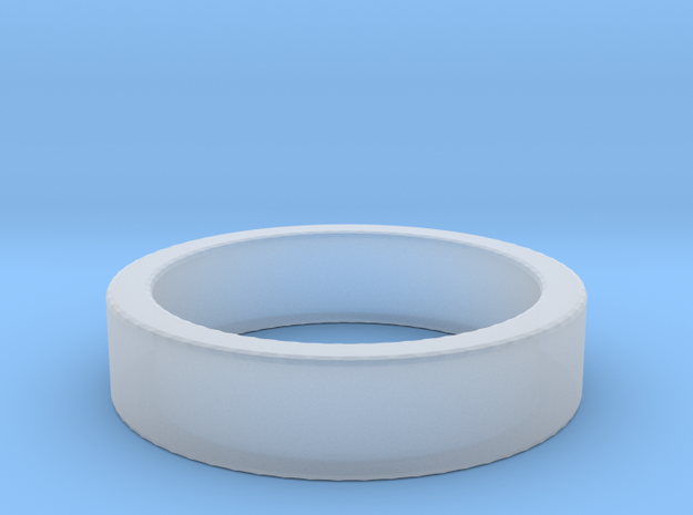 Basic Ring US7 in Smooth Fine Detail Plastic