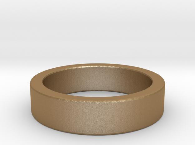 Basic Ring US7 1/4 in Matte Gold Steel