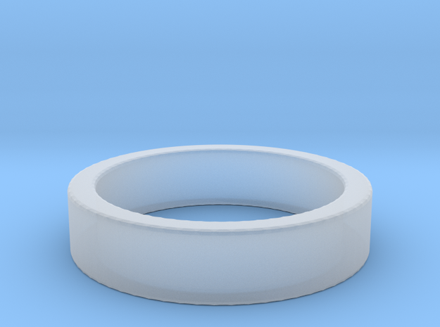 Basic Ring US8 in Smooth Fine Detail Plastic