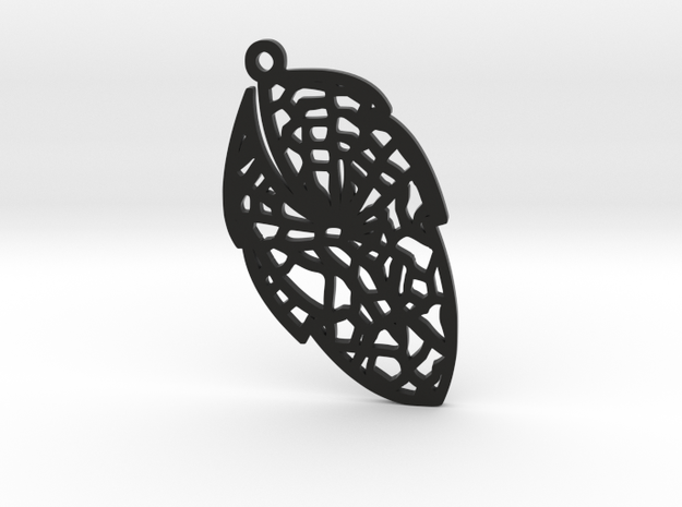 Leaf earring- Bring the nature close to you. in Black Strong & Flexible