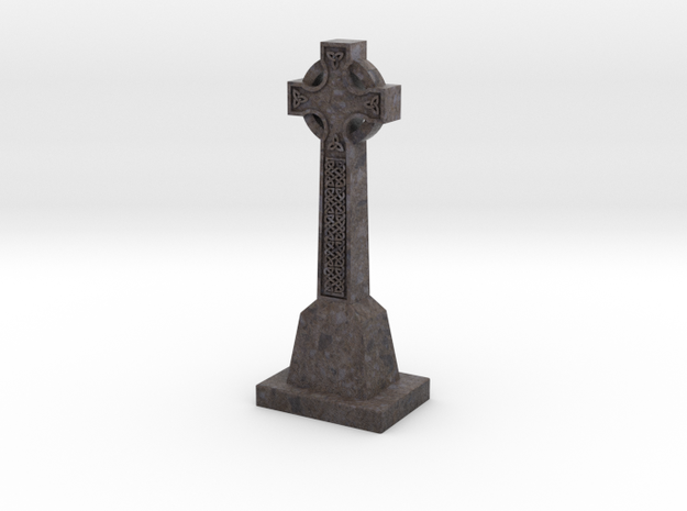 Celtic Cross - textured in Full Color Sandstone