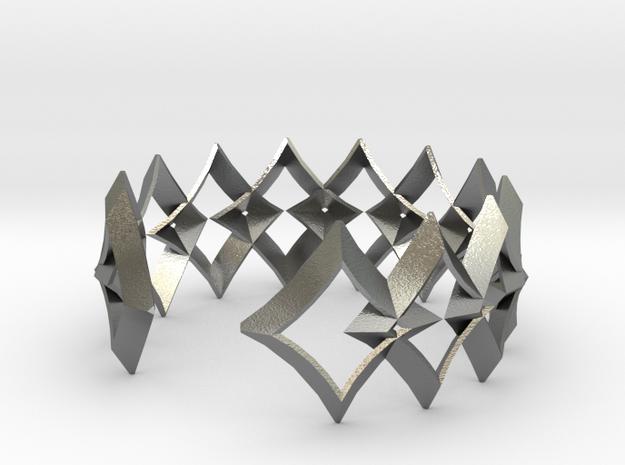 bracelet 01 open in Raw Silver