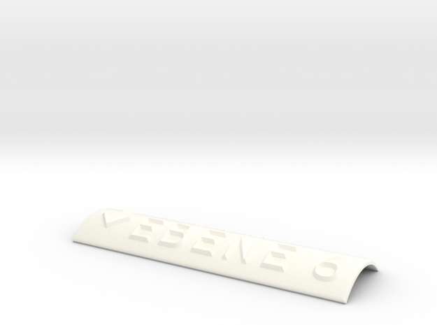 EBENE 6 mit Pfeil nach unten in White Processed Versatile Plastic