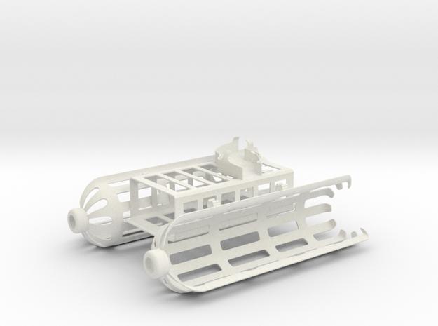 DJI Phantom 4 ocean rescue attachment in White Natural Versatile Plastic