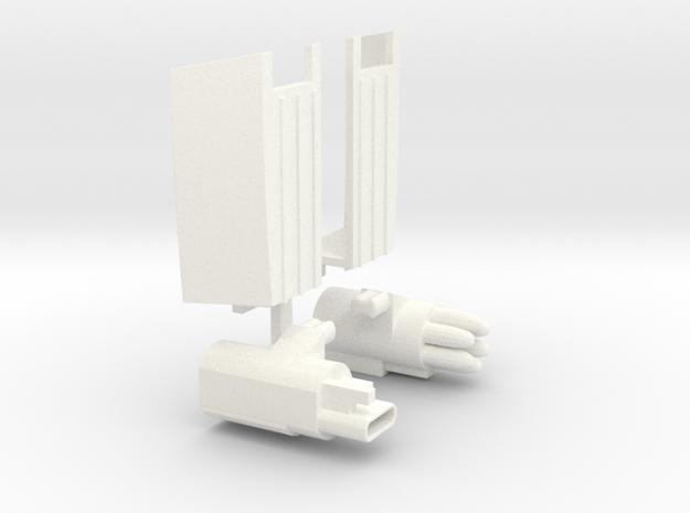 Trunk Fill Parts in White Processed Versatile Plastic