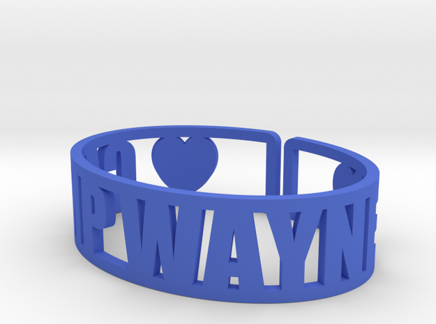 Camp Wayne Cuff in Blue Strong & Flexible Polished