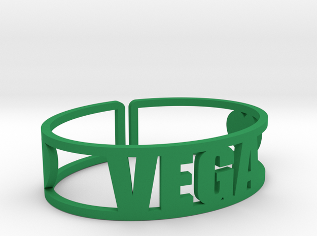 Vega Cuff in Green Strong & Flexible Polished