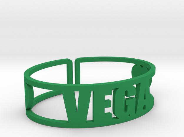 Vega Cuff in Green Processed Versatile Plastic