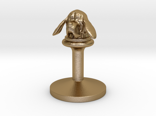 bloodhound - wax seals stamp (20mm) in Polished Gold Steel