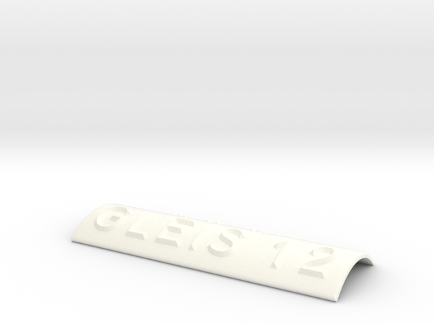 GLEIS 12 in White Processed Versatile Plastic
