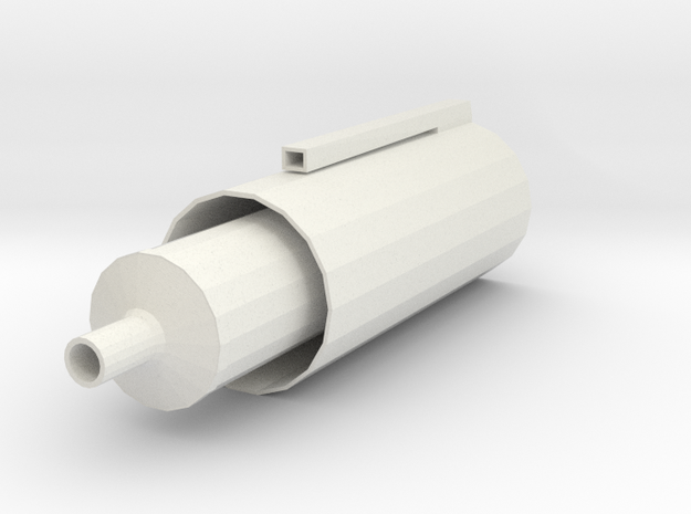 BellSiphon in White Natural Versatile Plastic
