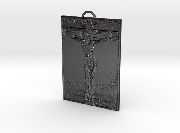 Sacrifice Pendant in Polished and Bronzed Black Steel