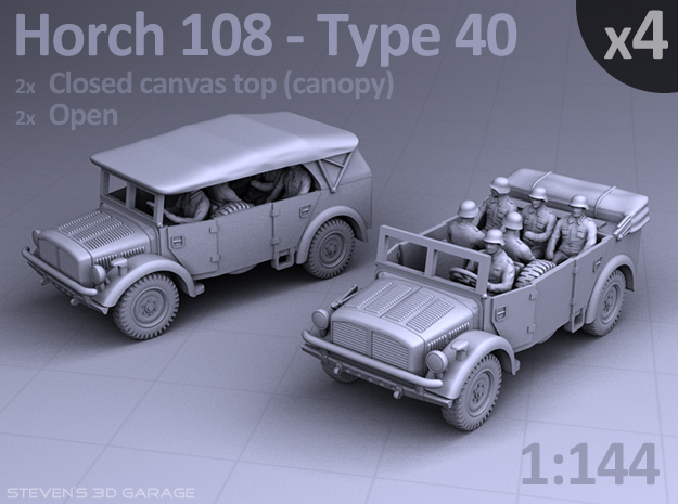 HORCH 108 40 - (4pack) in Smooth Fine Detail Plastic