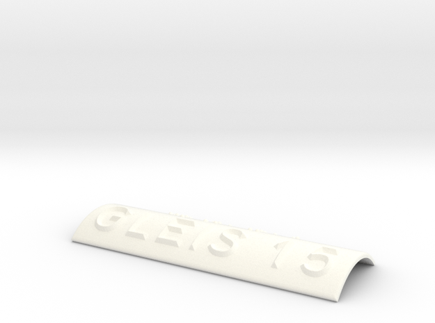 GLEIS 15 in White Processed Versatile Plastic