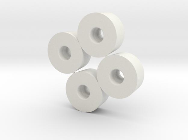 Jante avt D20-19  Lg 9  +0,5  X4 in White Natural Versatile Plastic
