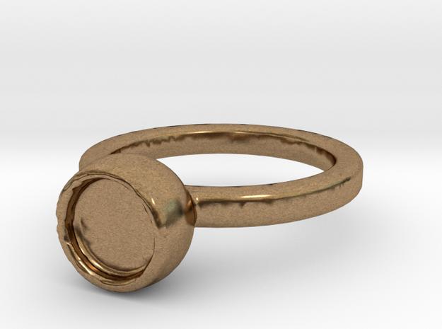 Art Ring Print in Raw Brass