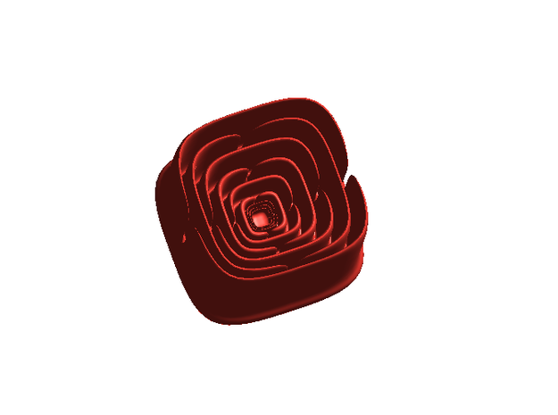 Math Rose - small in Red Processed Versatile Plastic