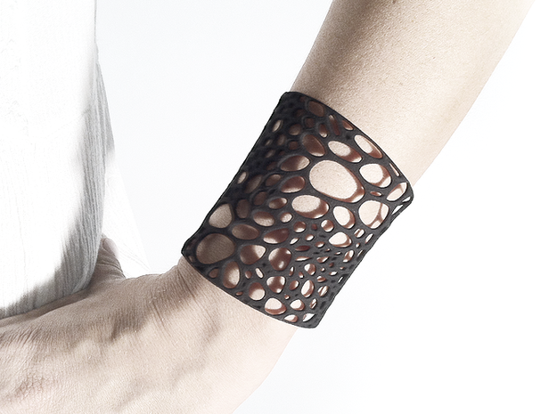Voronoi bracelet #1 (MEDIUM) 3d printed