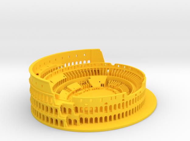 Roman Colosseum high details in Yellow Processed Versatile Plastic