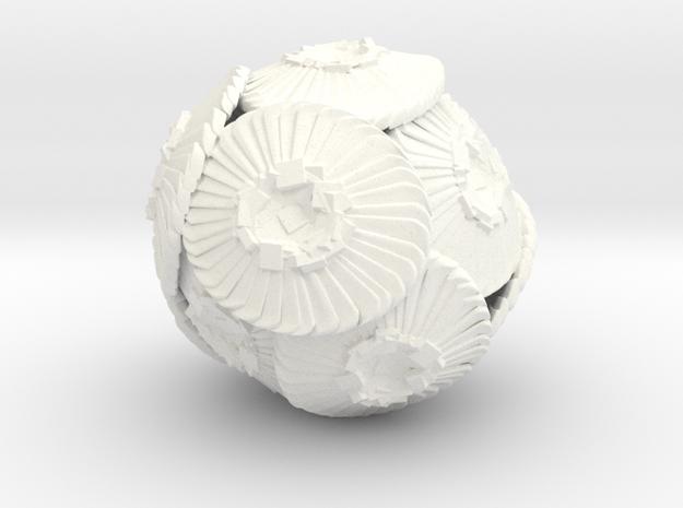 Coccolithus Sculpture 10cm - Science Gift in White Processed Versatile Plastic